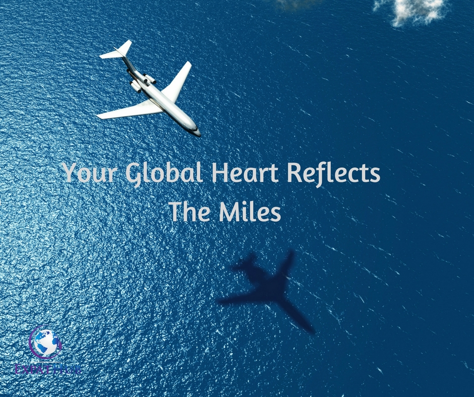 Your Global Heart Reflects the Miles You have Invested